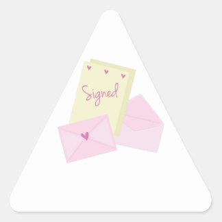 Signed Stationary Triangle Sticker