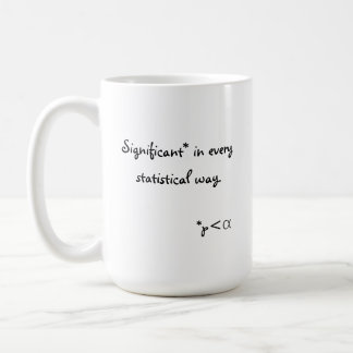Significant in every statistical way. coffee mug