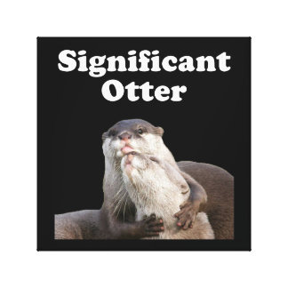 Significant Otter Stretched Canvas Print