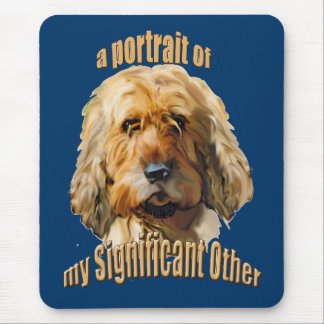 significant otterhound mouse pad