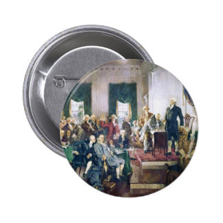 Signing of the Constitution by Howard C. Christy 6 Cm Round Badge