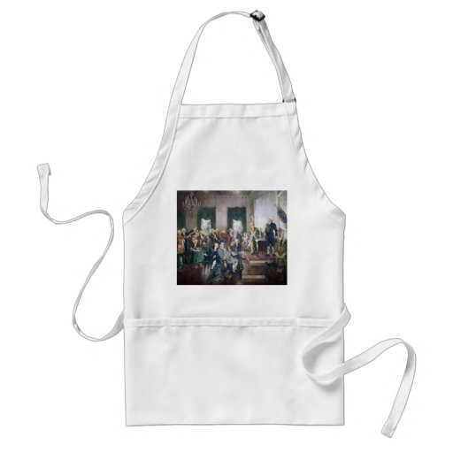 Signing of the Constitution by Howard C. Christy Aprons