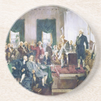 Signing of the Constitution by Howard C. Christy Beverage Coasters