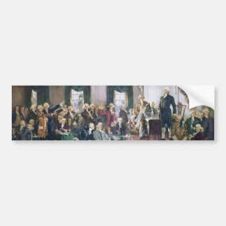 Signing of the Constitution by Howard C. Christy Car Bumper Sticker
