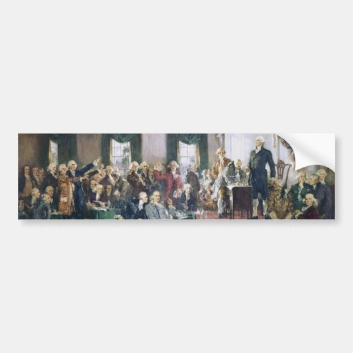 Signing of the Constitution by Howard C. Christy Bumper Stickers