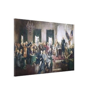 Signing of the Constitution by Howard C. Christy Canvas Print