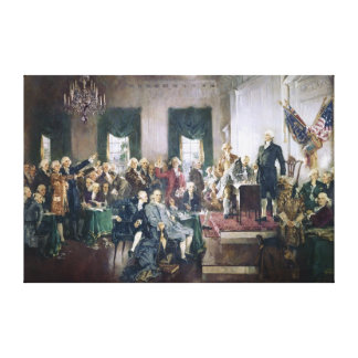 Signing of the Constitution by Howard C. Christy Canvas Prints