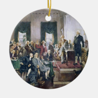 Signing of the Constitution by Howard C. Christy Christmas Tree Ornament