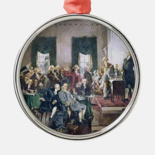 Signing of the Constitution by Howard C. Christy Christmas Ornaments