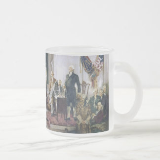 Signing of the Constitution by Howard C. Christy Frosted Glass Mug