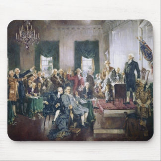 Signing of the Constitution by Howard C Christy Mouse Pads