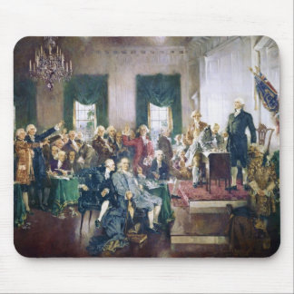 Signing of the Constitution by Howard C. Christy Mouse Pad