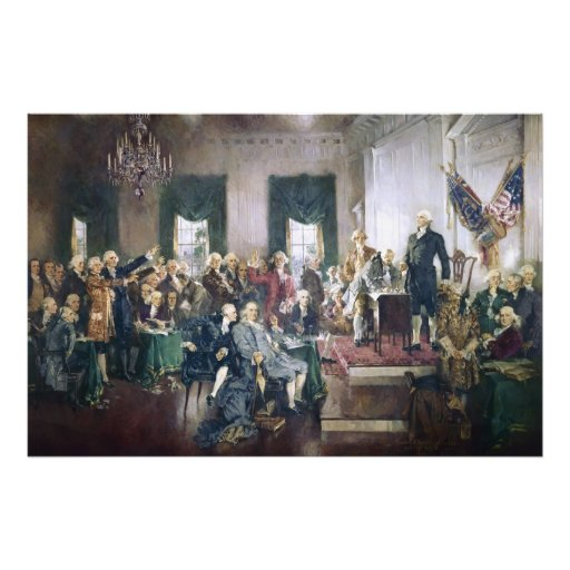 Signing of the Constitution by Howard C. Christy Photographic Print