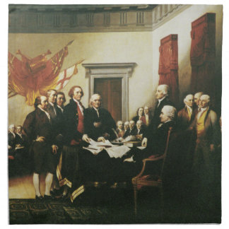 SIGNING OF THE DECLARATION OF INDEPENDENCE PRINTED NAPKIN