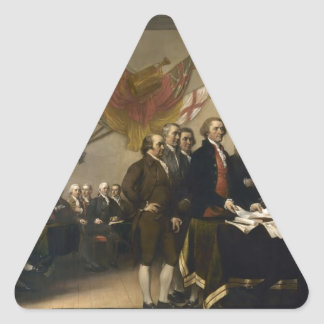 Signing of the Declaration of Independence Triangle Sticker