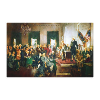 Signing of the USA Declaration of Independence Gallery Wrap Canvas