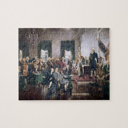 Signing the Constitution by Christy Jigsaw Puzzle