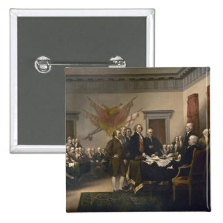 Signing the Declaration of Independence, July 4th 15 Cm Square Badge