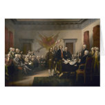 Signing the Declaration of Independence, July 4th Greeting Card