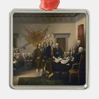 Signing the Declaration of Independence, July 4th Christmas Ornament
