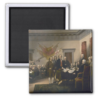 Signing the Declaration of Independence, July 4th Square Magnet