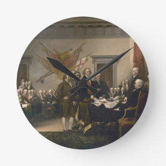 Signing the Declaration of Independence, July 4th Round Clock