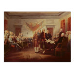 Signing the Declaration of Independence Postcard