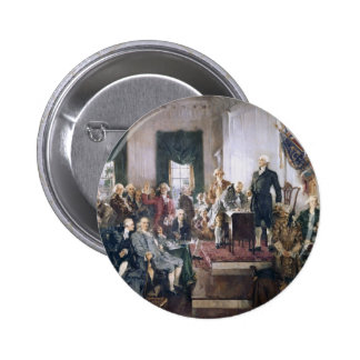 Signing the US Constitution by Christy 6 Cm Round Badge