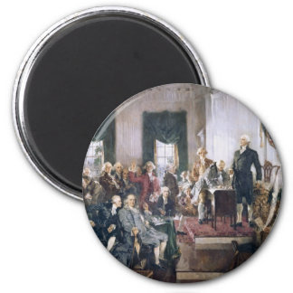 Signing the US Constitution by Christy 6 Cm Round Magnet