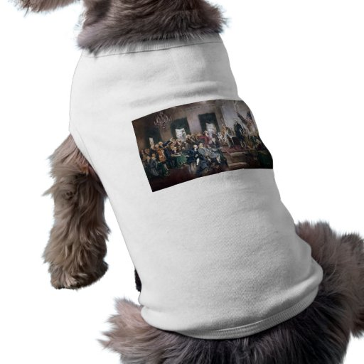 Signing the US Constitution by Christy Pet Shirt