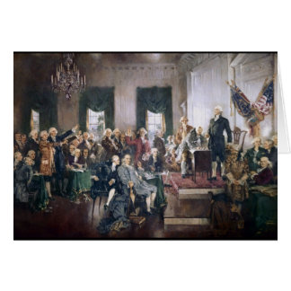 Signing the US Constitution by Christy Greeting Card