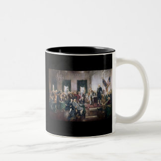 Signing the US Constitution by Christy Two-Tone Mug