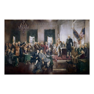 Signing the US Constitution Print