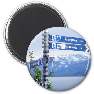 Signpost at Staloluokta Magnet