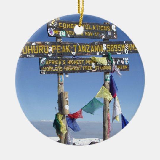 Signpost on the Summit of Kilimanjaro kenya Christmas