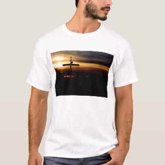 signpost sunset T-shirt