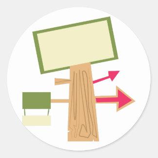 Signposts Round Sticker