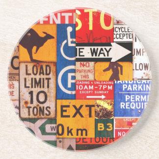 Signs Beverage Coasters