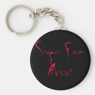 Signs From Above Basic Round Button Key Ring