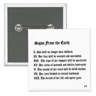Signs From The Earth 15 Cm Square Badge
