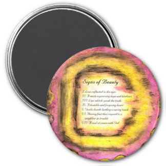 Signs of Beauty 7.5 Cm Round Magnet