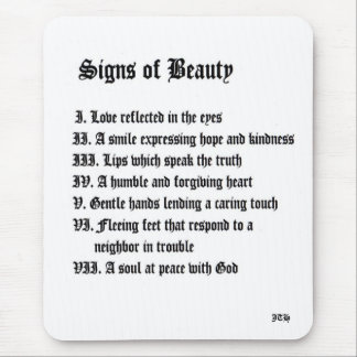 Signs of Beauty Mouse Pad