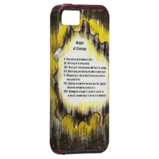 Signs of Courage iPhone 5 Case