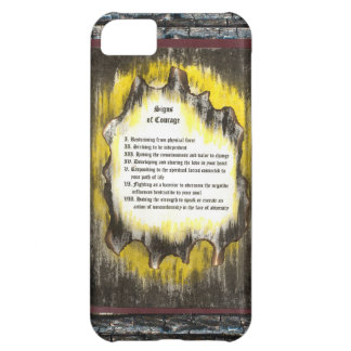 Signs of Courage iPhone 5C Case