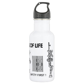 Signs Of Life at Railroad Crossings 532 Ml Water Bottle