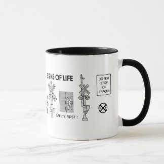 Signs Of Life at Railroad Crossings Mug