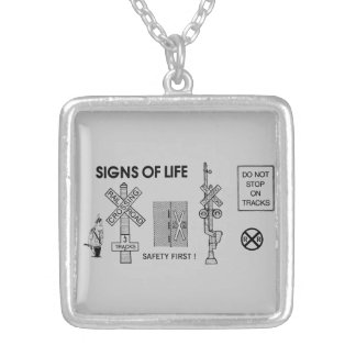 Signs Of Life at Railroad Crossings Necklace