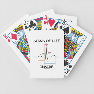 Signs Of Life Inside (ECG/EKG Electrocardiogram) Poker Deck