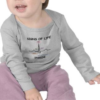 Signs Of Life Inside (ECG/EKG Heartbeat) T Shirts