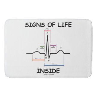 Signs Of Life Inside EMT Medical Heartbeat Humor Bath Mats